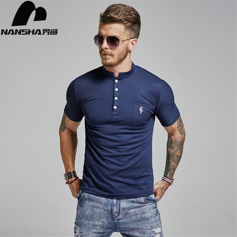 NANSHA Brand High Quality Men   Polo   Shirt Mens Short Sleeve Solid   Polo   Shirts Camisa   Polos   Masculina 2018 Casual Cotton Tops