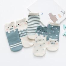 Детские носки, оптовая продажа, хлопковые детские носки, Осень-зима, все хлопковые Полосатые Носки с рисунком