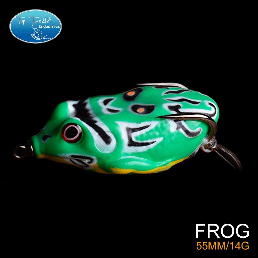 Livraison Gratuite Masque D'opéra Grenouille Leurre De Pêche Avec Double Crochet Pour Snakehead 5.5 CM/14G