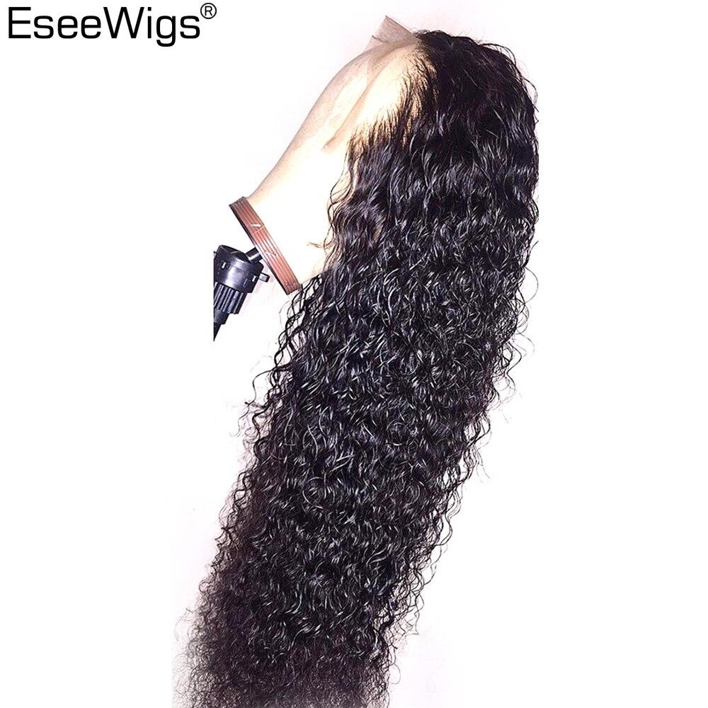 Eseewigs шелк базы Full Lace парики человеческих волос бразильский Remy Glueless парики для черный Для женщин глубоко вьющиеся полностью ручная работа па