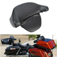 Motorcycle King Chopped Tour Pack Pak Backrest Pad Box Trunk Back Rest For Harley Touring Street Electra Glide Road 97-2013
