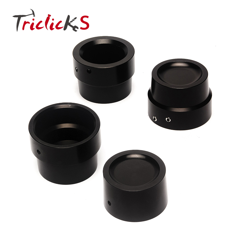 Triclick New Black CNC Aluminum Front Rear Axle Cover Bolt Cap Nut Kit Edge Cut Axle Cover Caps For Harley Sportster Softails ...