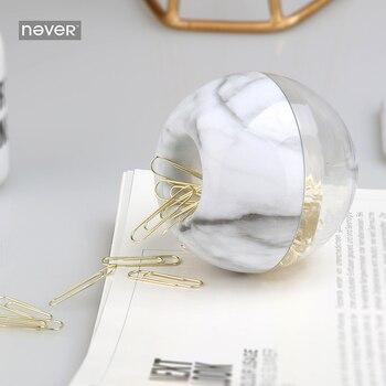 Держатель для бумаги в форме яблока Never Marble, металлический зажим для бумаги золотого цвета, офисные аксессуары, школьные принадлежности