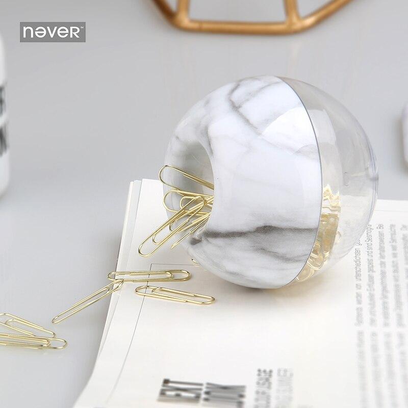 Nie Marmor Design Papier Clip Apfel Geformt Clip Dokumente Metall Büroklammern Gold Büro Zubehör Werkzeug Schulbedarf
