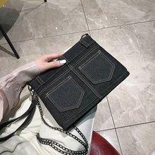 Female Crossbody Bags For Women 2019 High Quality Denim Luxury Handbags Designer Sac A Main Clutch Ladies Shoulder Messenger Bag недорого