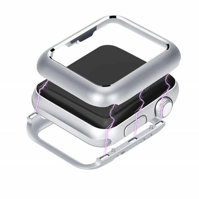 CRESTED Magnetic cover For Apple Watch case apple watch 4 3 44mm/42mm iwatch band 40mm/38mm screen protector protective glass 3