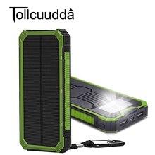 Tollcuudda 10000 mah Solaire Power Bank Téléphone Powerbank Pour Xiaomi Chargeur Portable Banque Mobile de Puissance