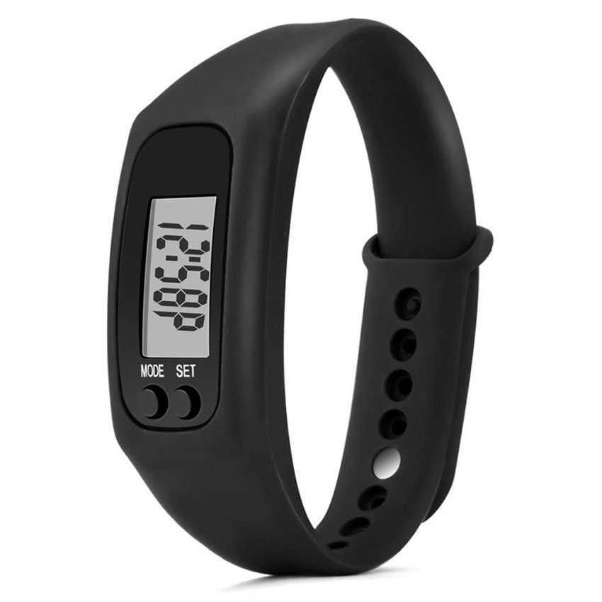 Man Watch Bracelet Pedometer Calorie Counter Digital LCD Walking Distance horloge man relojes hombre 2019 relogios masculino