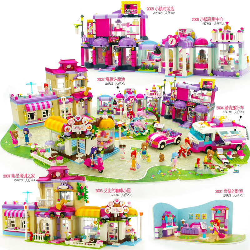 Galleria fotografica 4 Styles Shirley Princess House City <font><b>Friends</b></font> Series Model Building Blocks For Girl's Gift Toy Compatible With <font><b>Legoingly</b></font> <font><b>Friends</b></font>