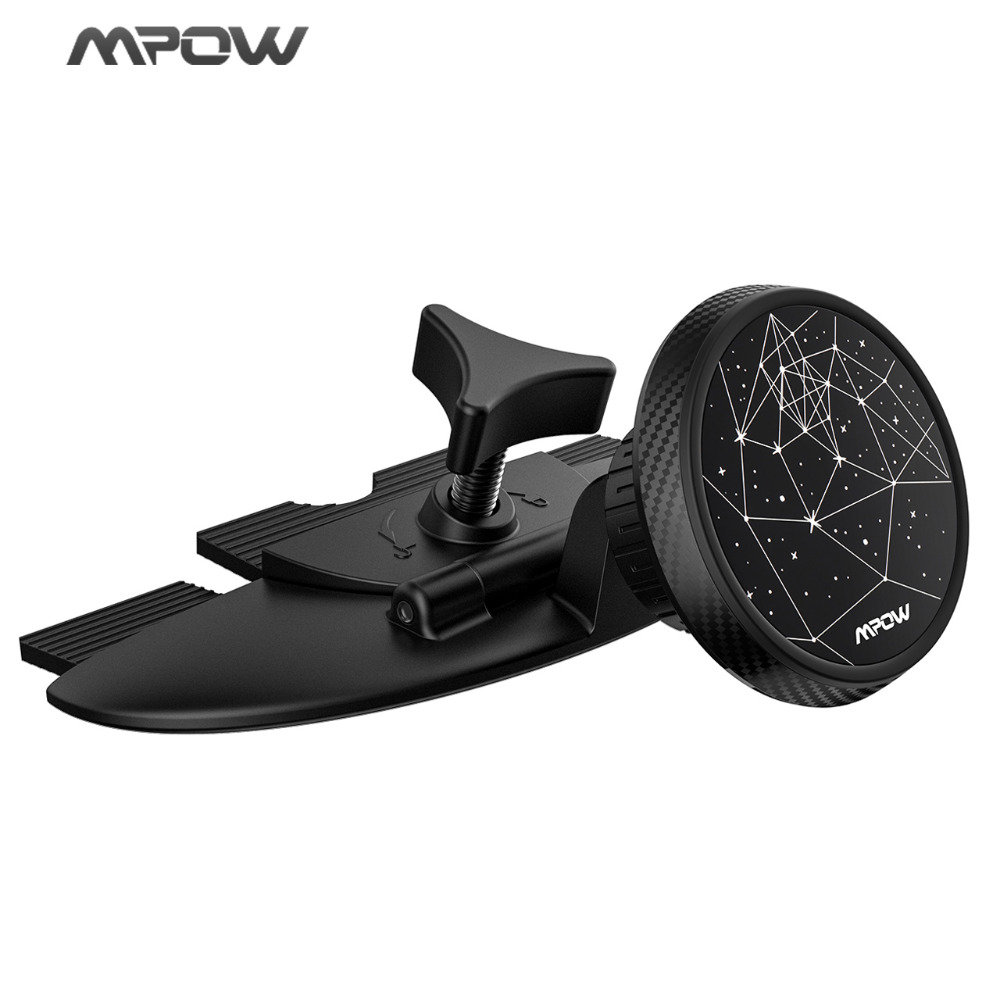Mpow CD Slot Car Phone Holder Magnetic Universal Cellphone Stand 360 Rotation For Cellphone GPS Tablet Pad Under 300g Starry Sky