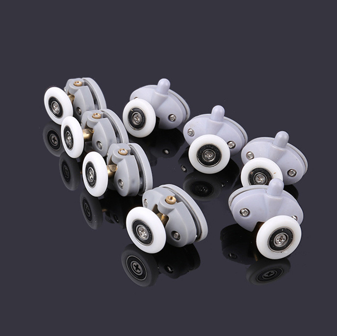 8pcs/lot Shower Rooms Cabins Pulley Shower Room Roller /Runners/Wheels/Pulleys Diameter23mm/25mm Hole Distance 26mm