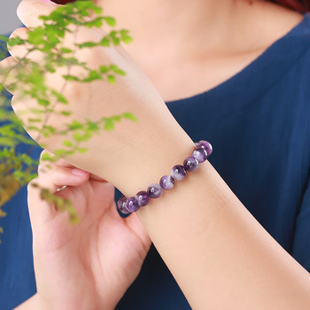 Amethyst Ankle Bracelet