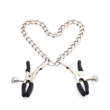 Chained Nipple Clamps Precision Tease Tweezers Metal Adult Game Sex Toy