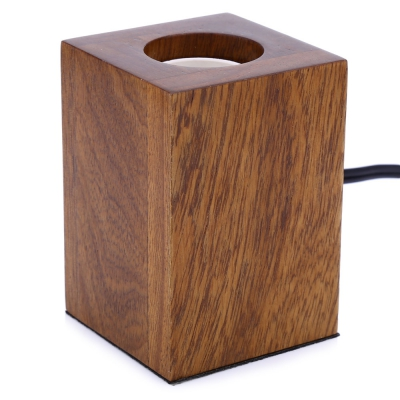 E27 Modern Minimalist Solid Oak Lamp Holder ...