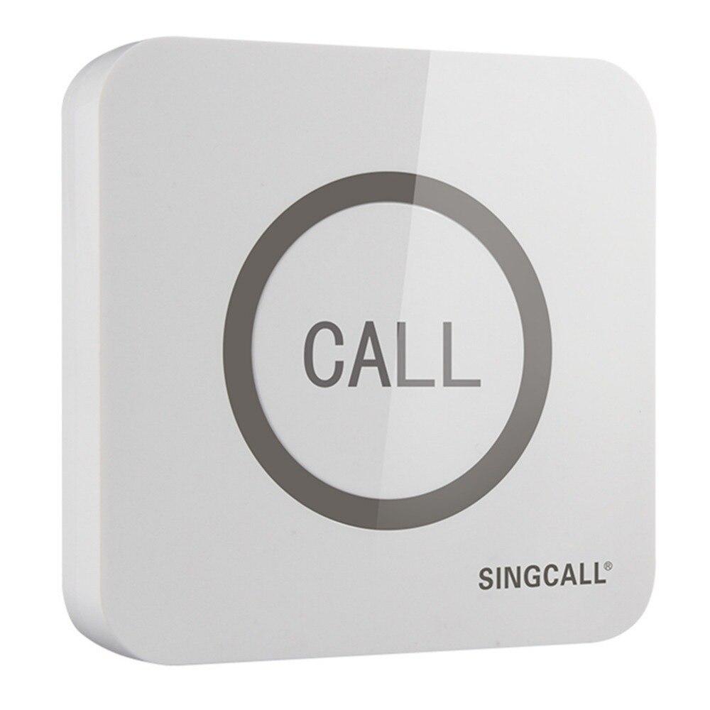 SINGCALL. Timbre de llamada inalámbrica, botón táctil súper grande con función impermeable, APE520