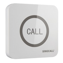 SINGCALL Wireless Call Bell,Super Big Touchable Single Button with Waterproof Function, APE520