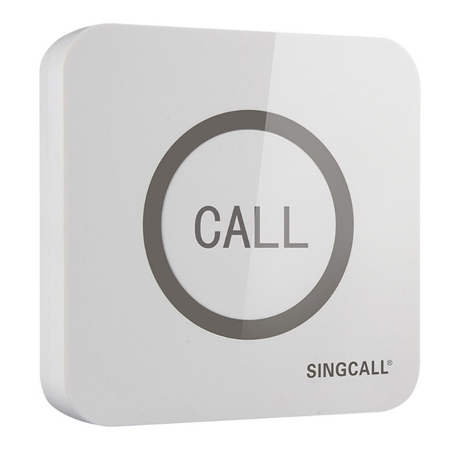 SINGCALL Wireless שיחת פעמון, סופר גדול Touchable יחיד כפתור עם פונקציה עמיד למים, APE520