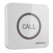 SINGCALL kablosuz çağrı çanı, süper büyük dokunmatik tek düğme, su geçirmez fonksiyonu ile APE520