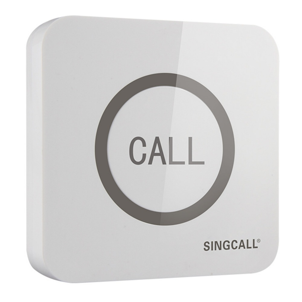 SINGCALL. Wireless Call Bell,Super Big Touchable Single Button With Waterproof Function,  APE520