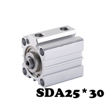 SDA25*30 Standard cylinder thin cylinder SDA Type 25mm Bore 30mm Stroke Pneumatic Compact Thin Cylinder  free shipping sda 12 25 thin type cylinder 12mm bore 25mm stroke double action pneumatic compact air cylinders