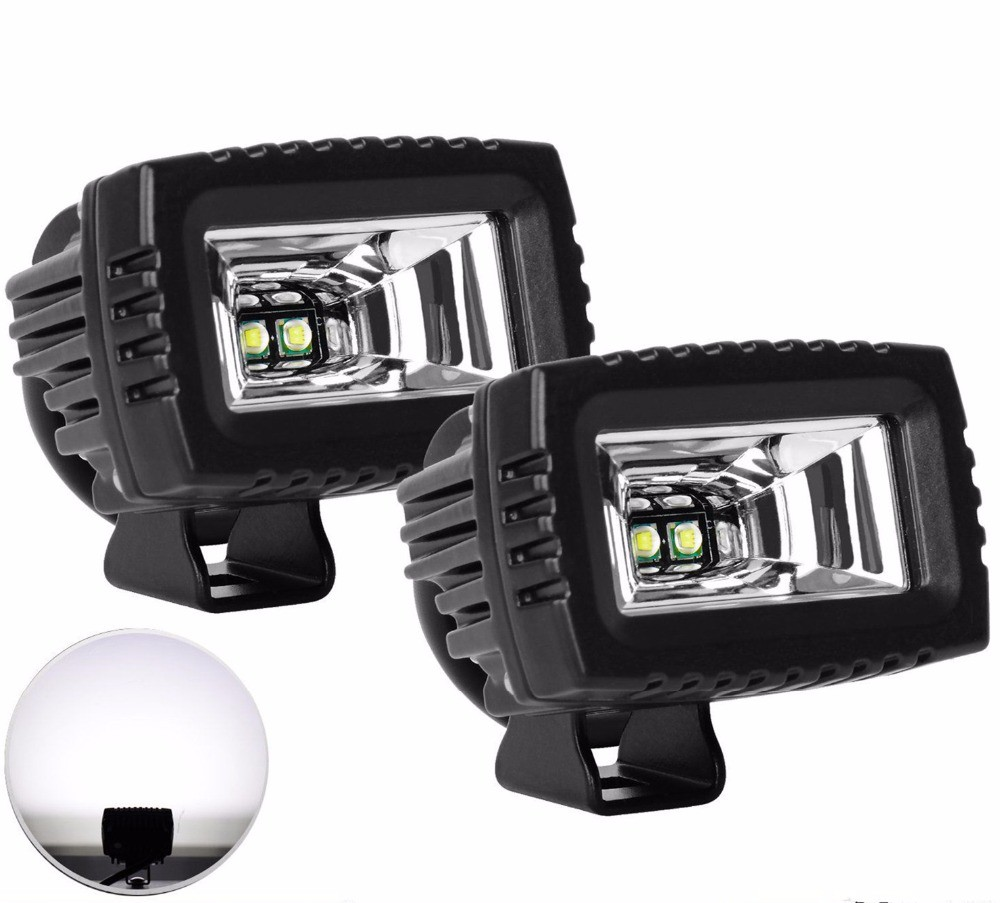 4pcs 18W Flush Mount Led work light Bar FLOOD Beam Cube ATV Offroad Driving Fog