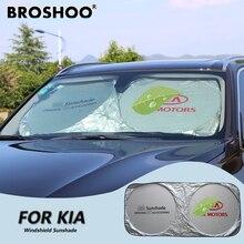 BROSHOO Car Front Windscreen Sunshade For KIA Ceed Picanto Sportage Sorento Soul Cerato Optima Magentis Morning Carnival K2