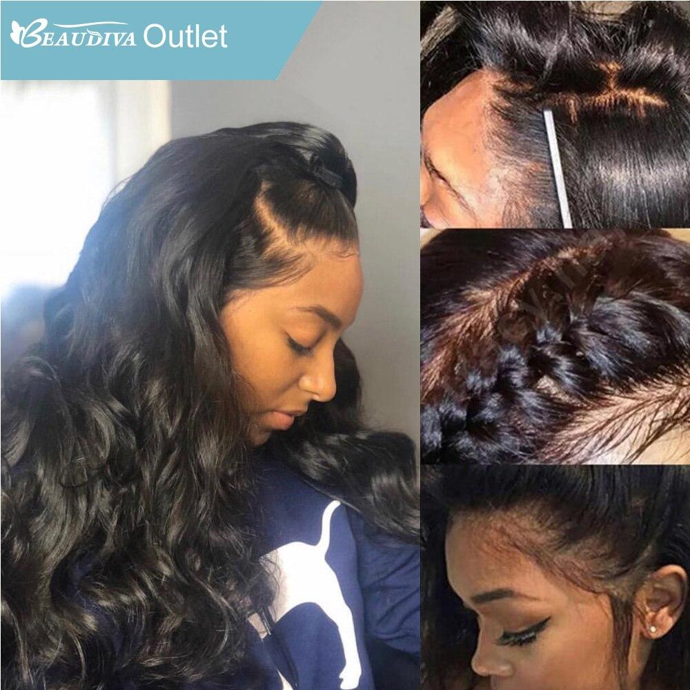360 Синтетические волосы на кружеве al парик с волосами младенца Beaudiva полный шнурок человеческих волос Бразильский объемная волна Синтетичес...