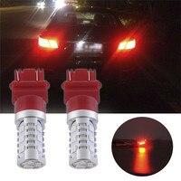 2Pcs 3157 SRCK CK15W 5630 LED Brake Tail Turn Signal Light Bulb Strobe Flash Light High