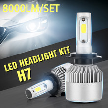 8000LM/Set LED Car Headlight Auto Head Light Bulb H1 H3 H4 H7 H11 H13 H27 9004 HB3 9006 HB4 9007 HB5 Lamps for Car Styling(China)