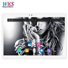 WKS New Google Play Android 7.0 OS 10.1 inch tablet PC Octa Core 4GB RAM 64GB ROM 1280*800 IPS 2.5D Glass Kids Tablets 10 10.1