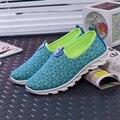 Mulheres da moda Sapatos Casuais Mulheres Sapatos Único Super Respirável Ao Ar Livre Sapatos de Lona Nova Plataforma Loafers # B2586