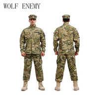 Armée américaine BDU costume de Camouflage allemand combat militaire tactique Airsoft uniforme-veste + pantalon hommes ensemble de vêtements médicaux