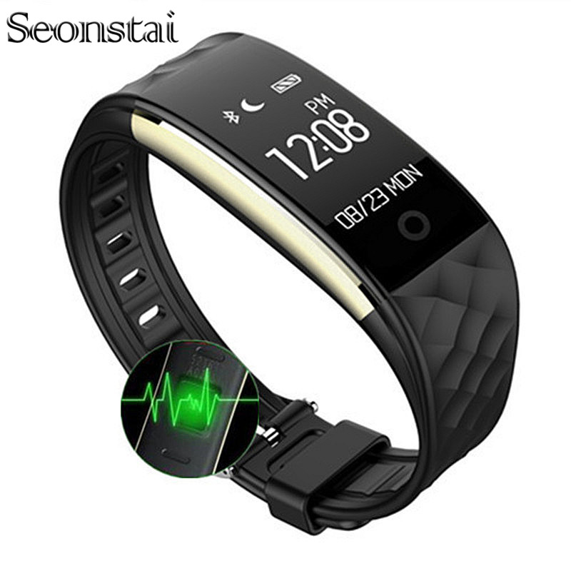 Seonstai S2 Sport Smart Band Wrist Bracelet Wristband Heart Rate Monitor IP67 Waterproof Bluetooth Smartband For iPhone Android