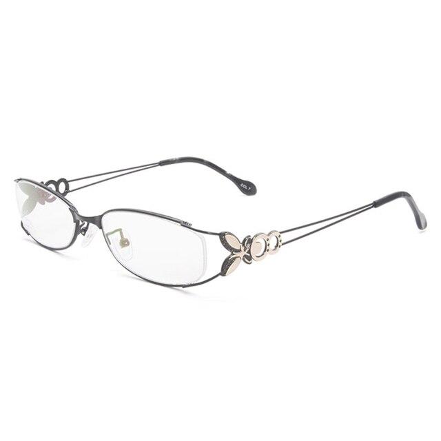 Gafas con montura completa de aleación para mujer, gafas de marca graduadas, a la moda, para mujer