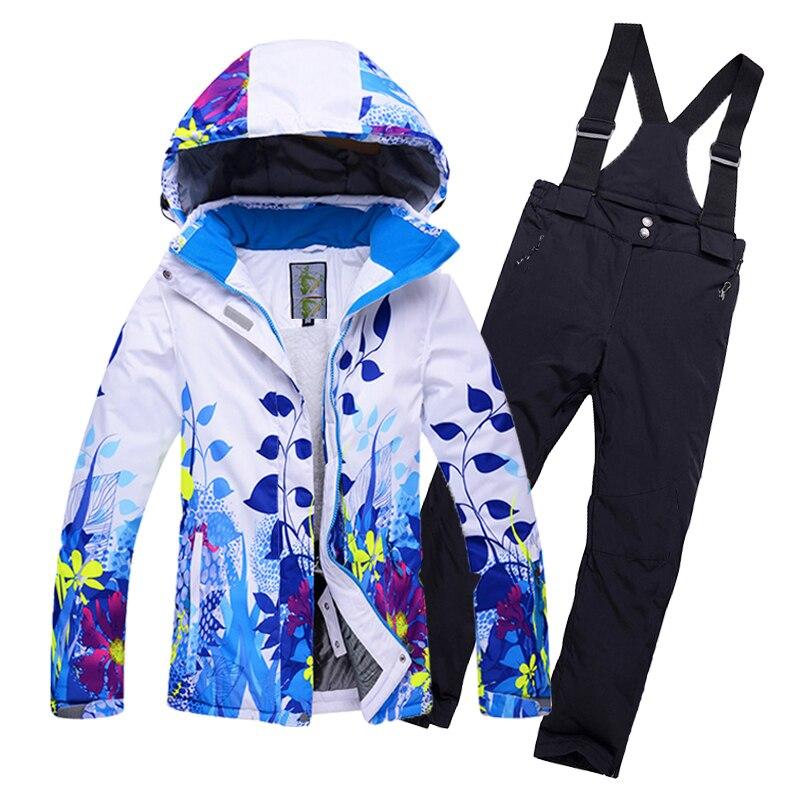 Enfants vêtements d'hiver combinaison de ski coupe-vent imperméable 10000mm ski vestes pantalon Enfants Habit de Neige garçons filles neige ski Vêtements