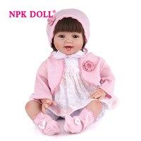 Npkdoll возрождается куклы Младенцы мягкий силиконовый 55 см Reborn для маленьких девочек игрушки Playmate классический реалистичные новорожденных к