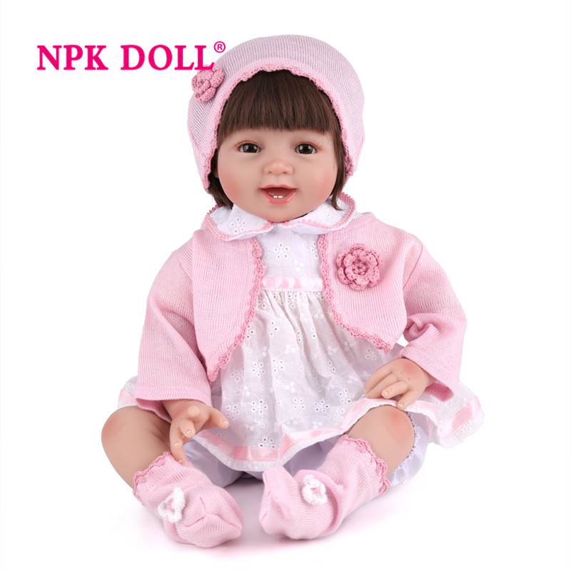 Dolls Qualified 22 55cm Silicone Reborn For Princess Children Birthday Gift Baby Alive Soft Reborn Dolls Playmate Gifts For Girls Toys & Hobbies