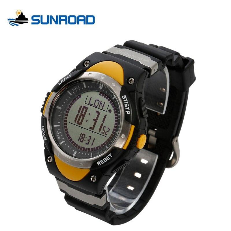 где купить SUNROAD Men Watch Multifunction Digital Fishing Altimeter Watches Compass Pedometer World Time Backlight LED Watch Men Alarm по лучшей цене