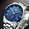 LIGE часы мужские уникальный дизайн мужские часы люксовый бренд спортивные военные нержавеющей стали Кварцевые наручные часы relogio masculino