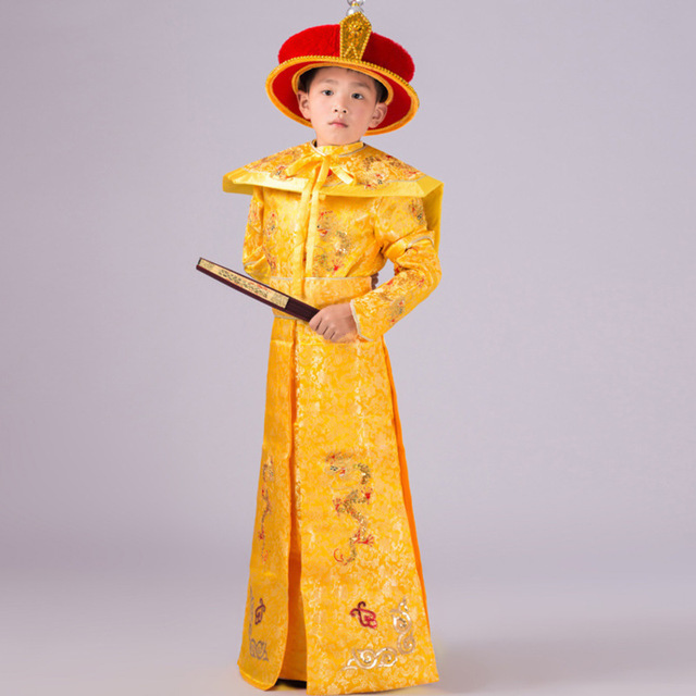 Ancient Chinese Costume For Kids Costumes Dancer Stage Quality Costumes Imperial Robe Emperor Qing Dynasty Kangxi  sc 1 st  AliExpress.com & Ancient Chinese Costume For Kids Costumes Dancer Stage Quality ...