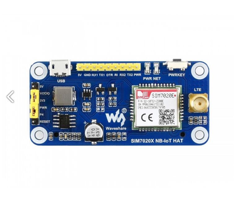NB-IoT HAT For Raspberry Pi Supports LWM2M/COAP/MQTT Communication Used In Smart Meters/asset Tracking/remote Monitoring, Etc.
