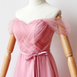 Image 5 - Inner Lining  Red Bean Pink Bridesmaid Dresses Woman Dresses for Party and Wedding  Maxi Dress