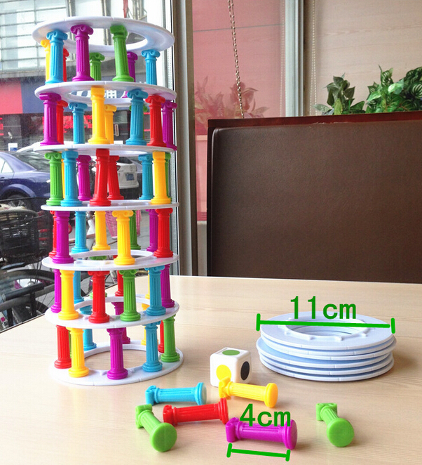 Pizza tower collapse stacking crazy column game balance funny desktop table toy Learn Education kid plastic happy family toyY157 pizza balance game pile up balancing desktop toy pretend play food small family plastic building blocks toys for children