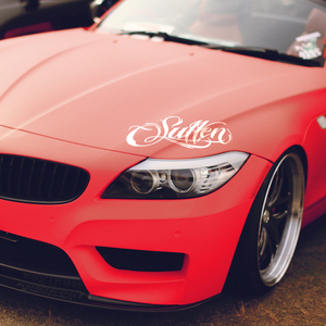 Car Sticker Decal For BMW Sullen Lights Reflective Vinyl 2 Colors 35cm Tuning Auto Car Styling Accessories(China)