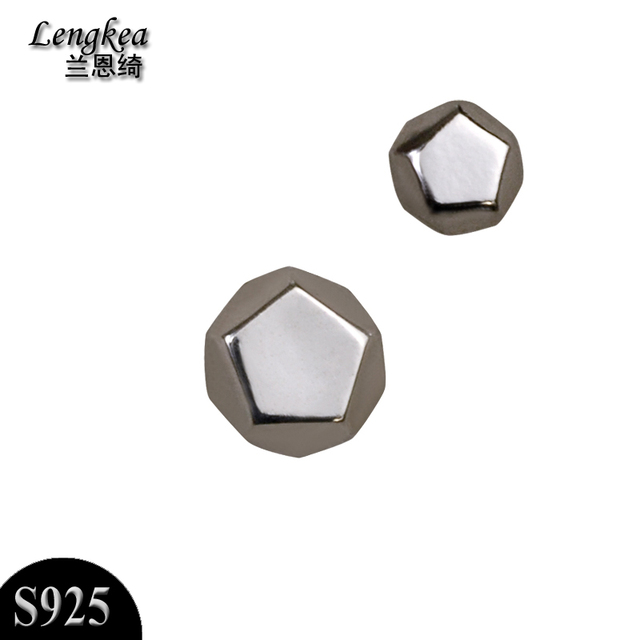 d8a6ee706 Free shipping,fashion male/female single 925 silver stud earring personality  girls/boys brief stud earring accessories,gift
