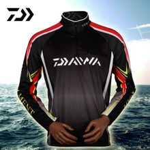 2017 New Daiwa Daiwa Spring Summer Men Fishing Shirts Quick Dry Breathable Men Shirts Long Sleeve UPF30 Sun Protection Promotion