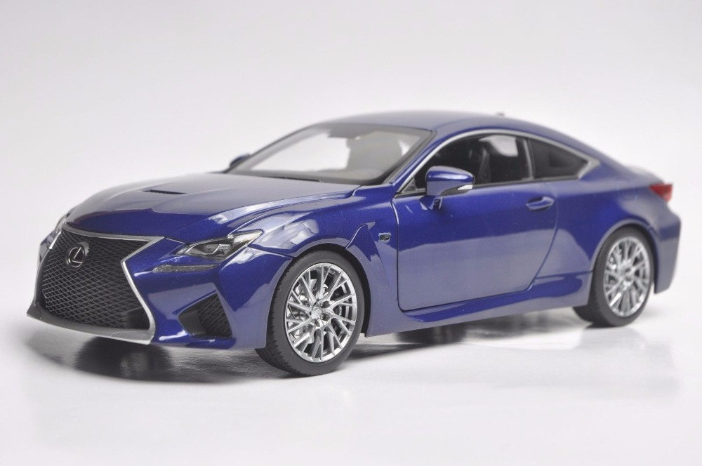 1:18 Diecast Model for Lexus RCF Blue Coupe Alloy Toy Car Miniature Collection Gift RC F rcf evox 12