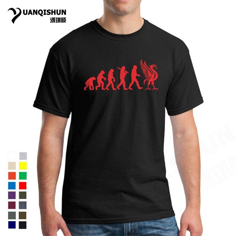 Liverpool Evolution T-Shirt Liver Bird Tee Funny Xmas Birthday Present 16 Colors Cotton T Shirts New Unisex Funny Tops Tee 3XL