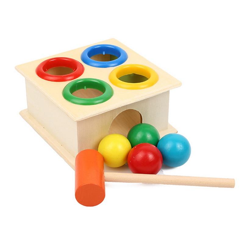 Developmental Learning Toys : Hammering wooden ball hammer box children early learning