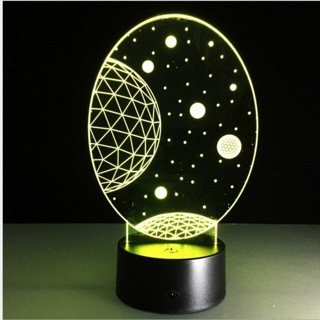 US $23 9 |Novelty 3D Star Trek Decor Outer Space Exploratio Night Light  Lamp Gadget LED Lighting Home Bedside Nightlight for Child Gift-in Night
